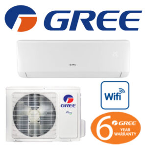 Gree (Bora Series) + WiFi Reverse Cycle Inverter Split System Air Conditioner Cooling & Heating Wall Mounted R32